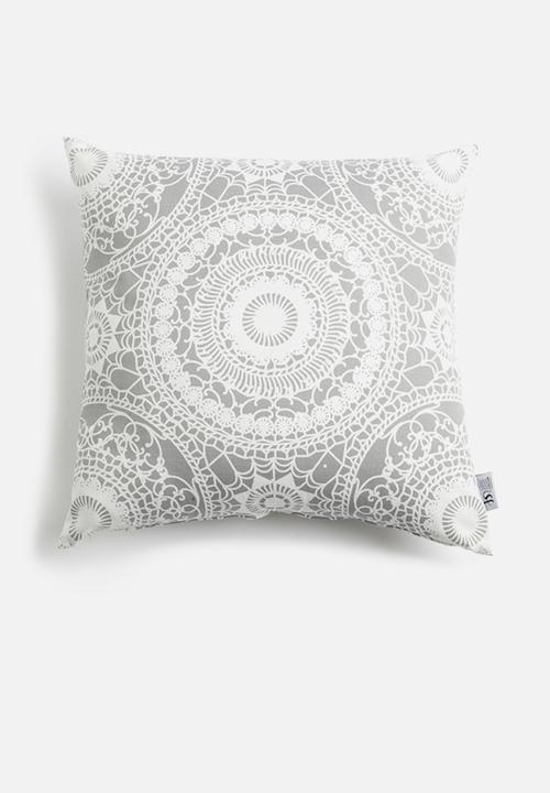 Moroccan Tile Cushion Cover Grey White Sixth Floor Cushions Throws Superbalist
