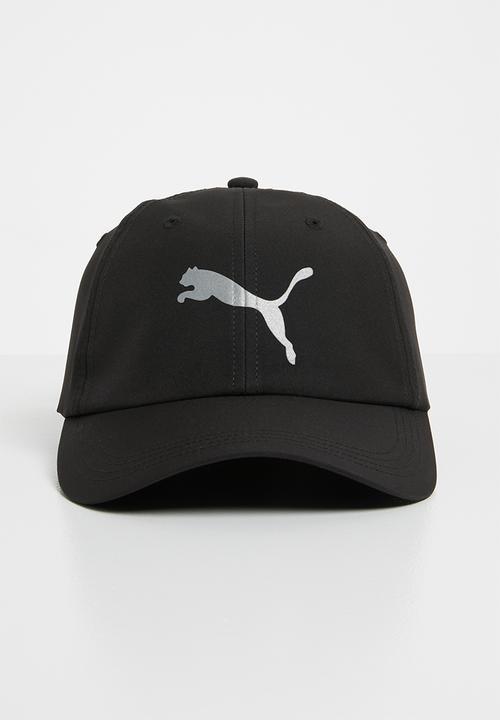 10ed199e16e Ess running cap puma cat logo - black PUMA Headwear