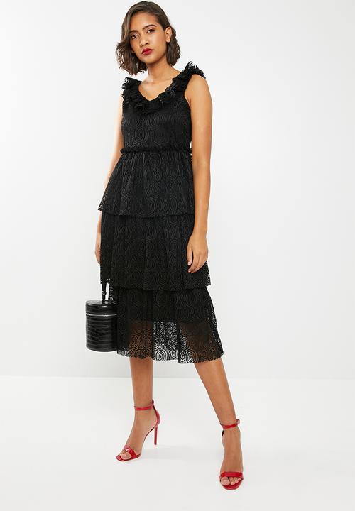 a58e7a3addf00 Lida midi lace dress - black Vero Moda Formal | Superbalist.com