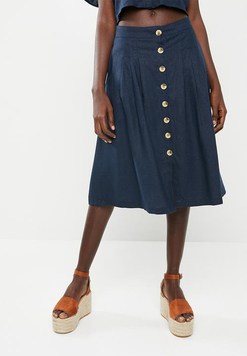 0cbbc626d1427d Front button midi skirt - navy STYLE REPUBLIC Skirts | Superbalist.com