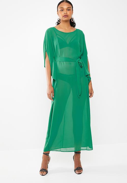 195c44ad681 Dramatic kaftan maxi dress emerald - green STYLE REPUBLIC Casual ...