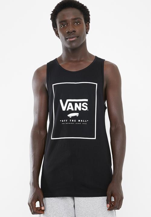 41999b3bbc155c Vans Print Box Tank Black and White Vans T-Shirts   Vests ...