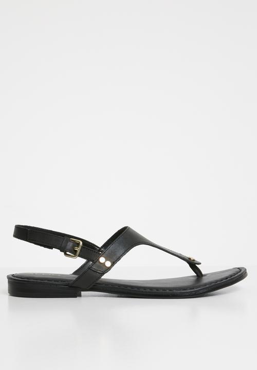 Ariaria leather flat thong sandals - black ALDO Sandals   Flip Flops ...