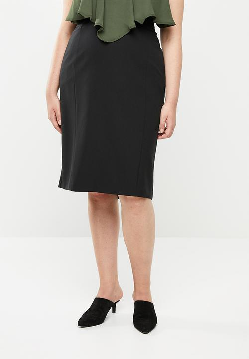 dbe63dc618 Tailored pencil skirt - plus size - black edit Plus Bottoms   Skirts ...