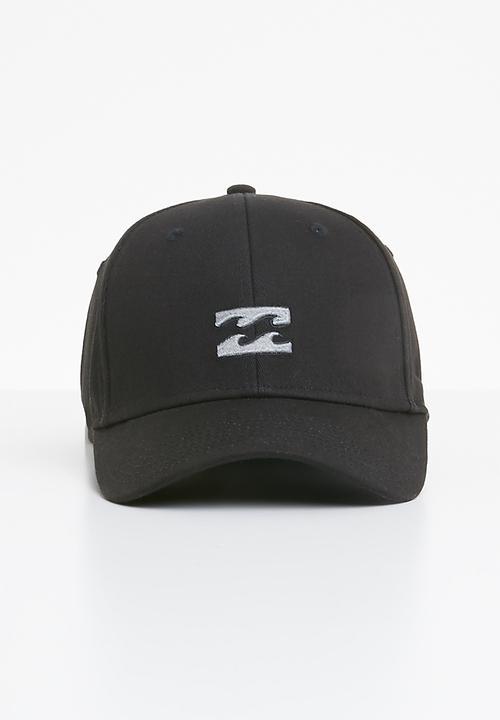 All day stretch cap - black Billabong Headwear  da4ca530baf3