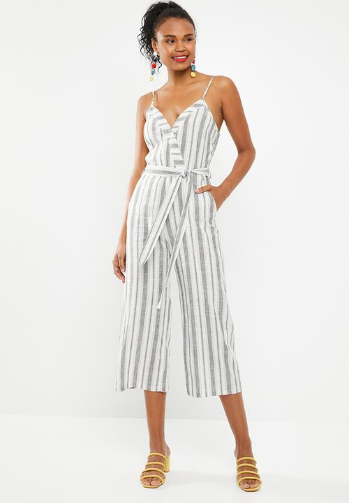 a0c342bffc1 Linen blend striped jumpsuit - navy and white stripe Superbalist ...