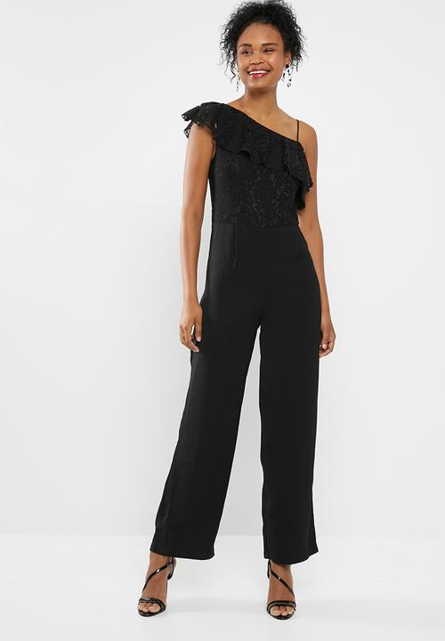 a2104f3f7c Joelene lace jumpsuit - black ONLY Jumpsuits   Playsuits ...