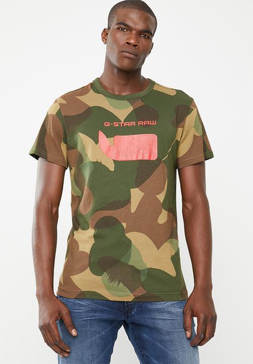 2d25f41796 Graphic MBC regular tee - camo G-Star RAW T-Shirts   Vests ...