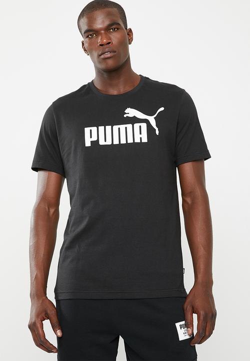7e5aada2 Ess logo tee - black PUMA T-Shirts | Superbalist.com