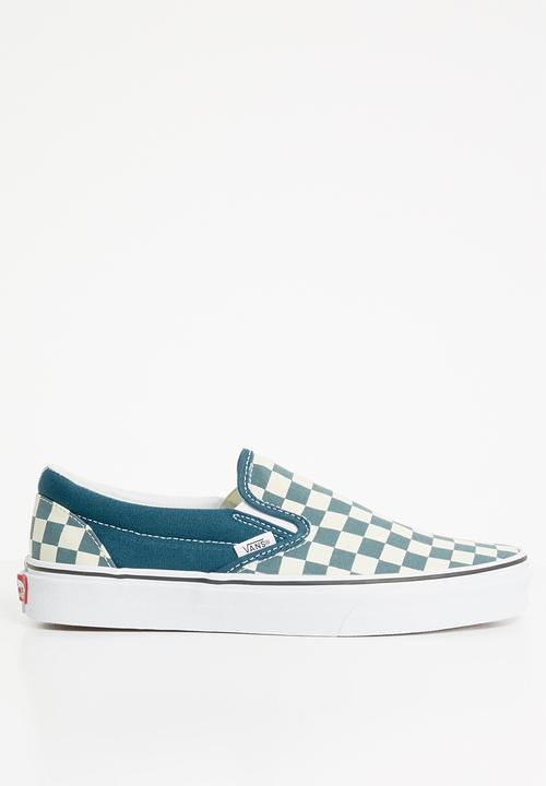62ed10f3ee28 Vans Classic Slip-On - Checkerboard Corsair   True White Vans ...