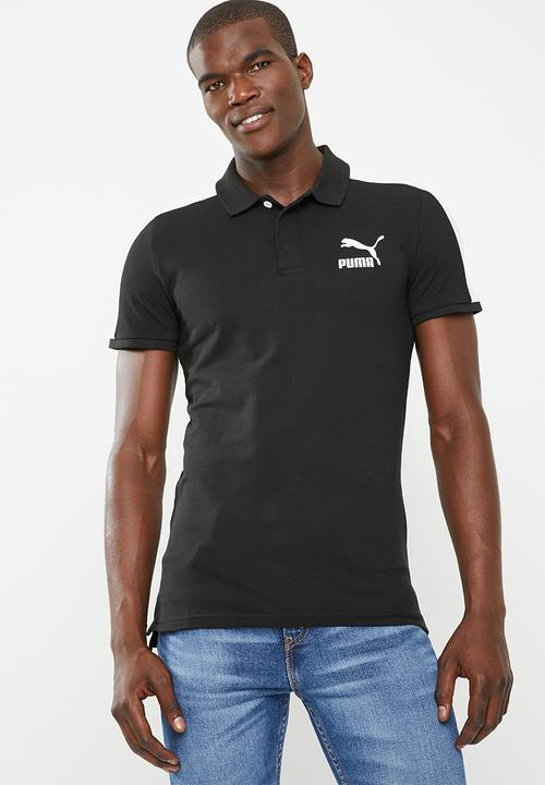 b2f524b7e73 Classics T7 polo slim cotton - black & white PUMA T-Shirts ...