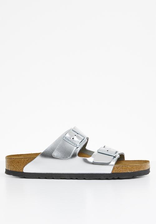 f026da40f Arizona - metallic silver Birkenstock Sandals & Flip Flops ...