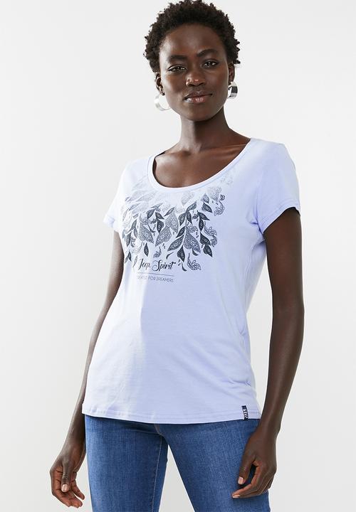 d5d0ac4a Scoop neck tee - pale blue JEEP T-Shirts, Vests & Camis ...
