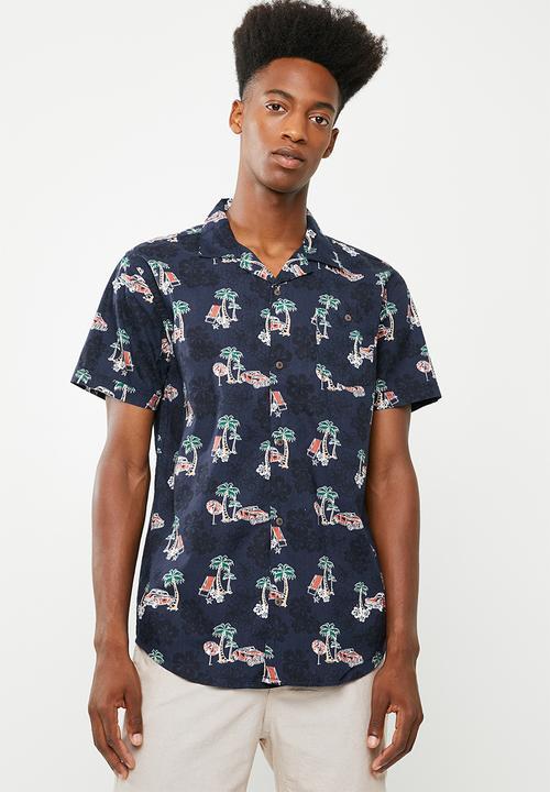 ae54de89b34 Lagos Shirt Navy Brave Soul Shirts