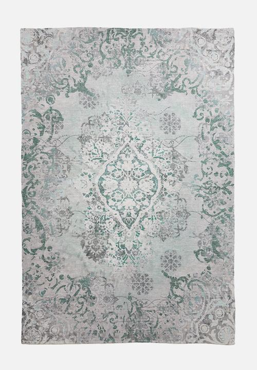 Remy Printed Rug Antique Blue Green