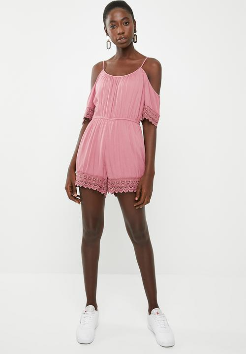 Perry cold shoulder playsuit - rose ONLY Jumpsuits   Playsuits ...