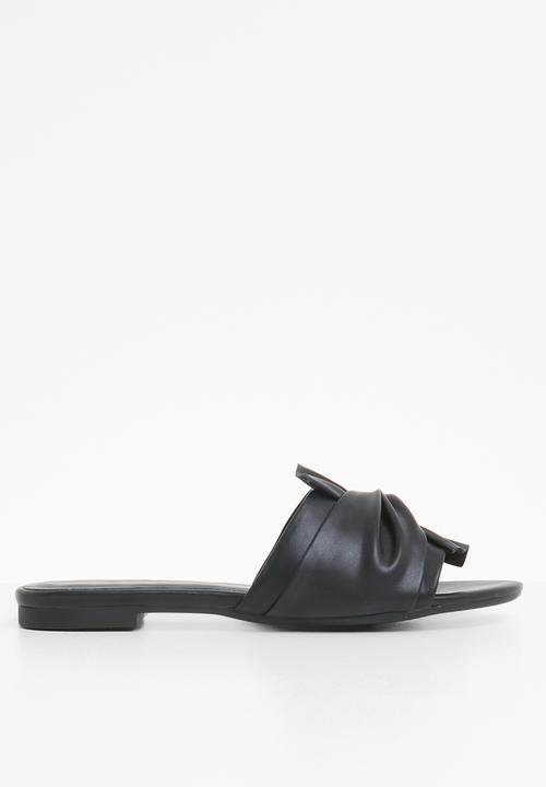 Laraycia knotted flat slide sandal - black ALDO Sandals   Flip Flops ...