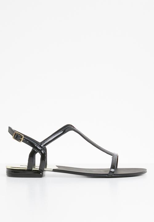 Flat Black Sandalsamp; Adurien Flops Sandal Strappy Patent Aldo Flip HD29IE