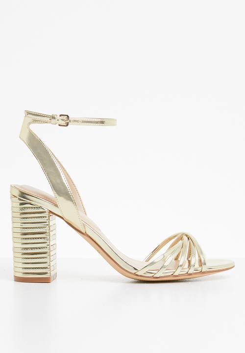 Taledia ankle strap block heel sandal - gold ALDO Heels ...