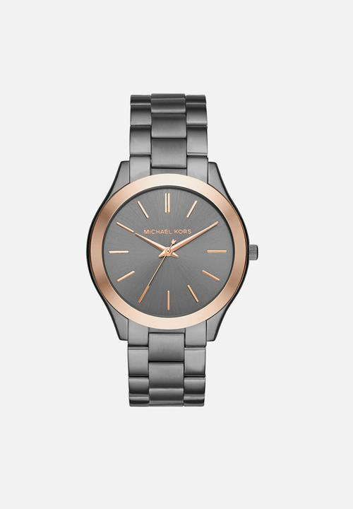 529f8330d180 Slim runway - grey   rose gold Michael Kors Watches