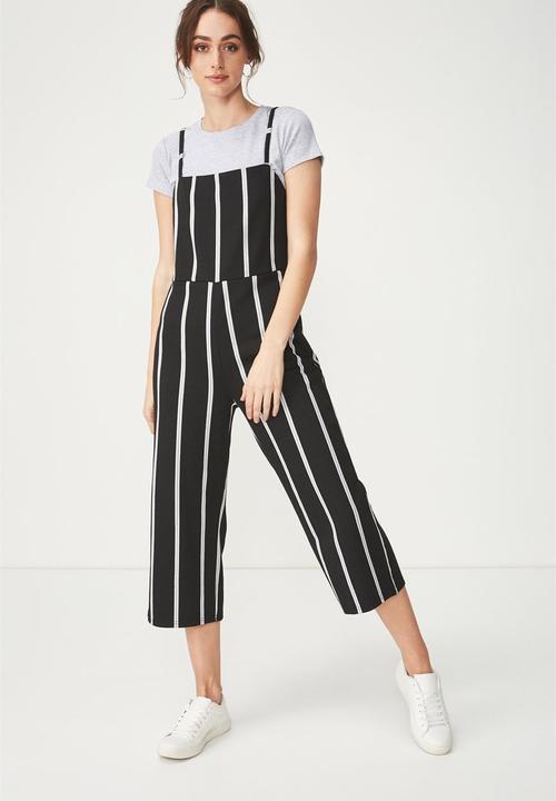 bf67f984e6e Estee strappy jumpsuit - alexi stripe black white Cotton On ...