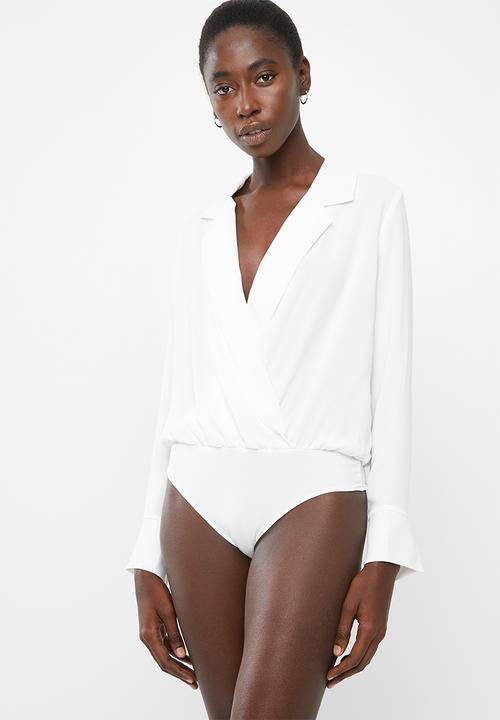 Freya long sleeve shirt bodysuit - white Vero Moda T-Shirts 1e9096695