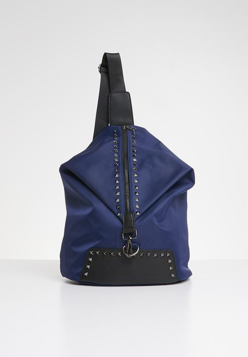 f2fb5da78ce5 Studded Shoulder Bag - Navy STYLE REPUBLIC Bags   Purses ...