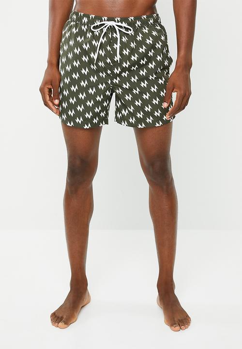 c670129942 Presley swim shorts - khaki & white Brave Soul Swimwear ...