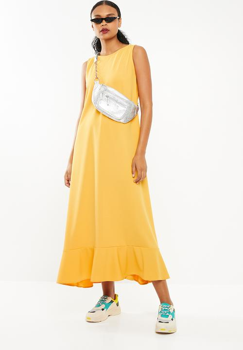 3dd3eb7acb Maxi swing dress - yellow STYLE REPUBLIC Formal