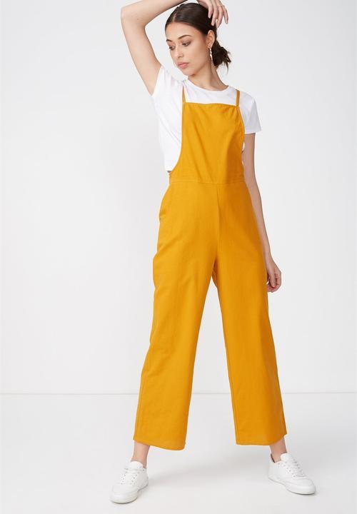 3a6b240e3cd Woven phoenix overall jumpsuit - orange Cotton On Jumpsuits ...