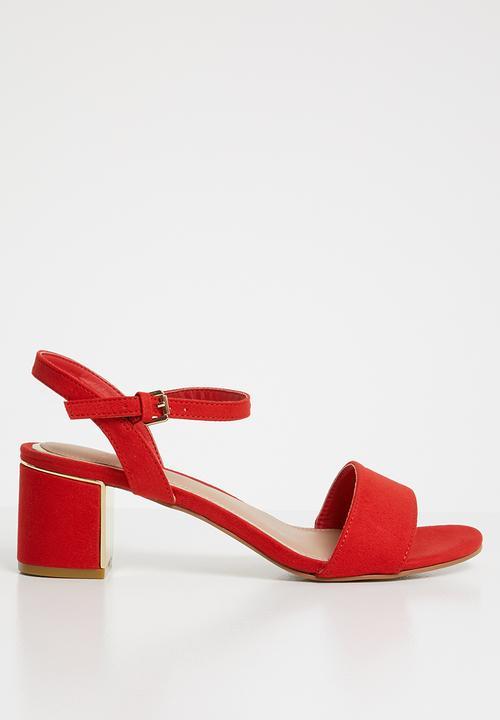 dbea94aefdf8 Wide fit steel - red New Look Heels