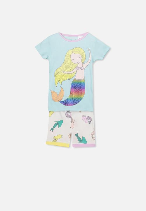 390dcb1c81c Chloe short sleeve girls pj set - mermaid tales Cotton On Sleepwear ...