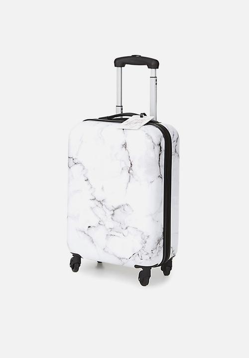 bf871f053 Small suitcase - black & white marble Typo Luggage | Superbalist.com