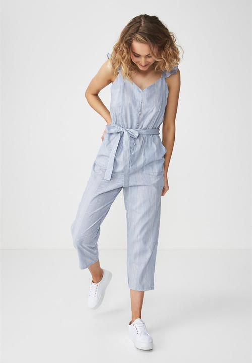b5b192e1a6a5 Woven flo tapered jumpsuit - hannah stripe Cotton On Jumpsuits ...