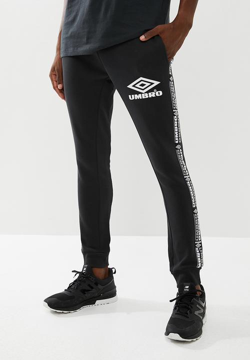 99c0e5cda Umbro taped tapered fit jogpant - black Umbro Sweatpants & Shorts ...