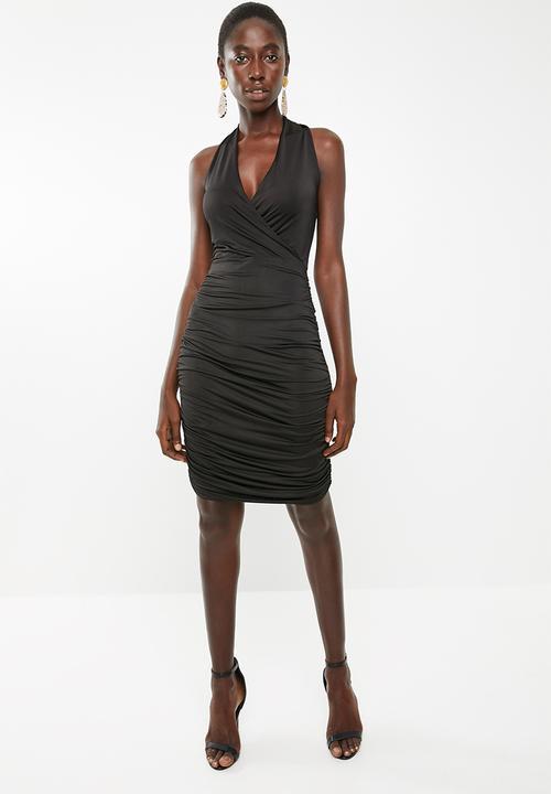 44326789704b Halter neck slinky knit dress - black Superbalist Occasion ...