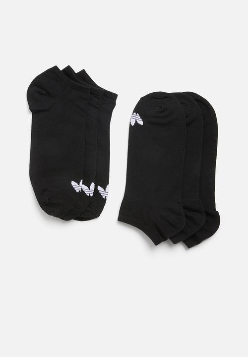 d0c6d0625 adidas Originals - 3 Pack inisex solid crew originals socks - black and  white