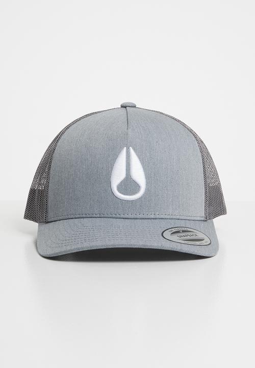 Iconed trucker cap heather grey Nixon Headwear  6b706b126f9