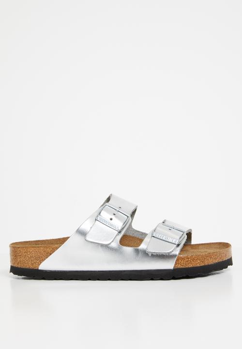 5655ba5c0 Arizona wider fit - metallic silver Birkenstock Sandals & Flip Flops ...