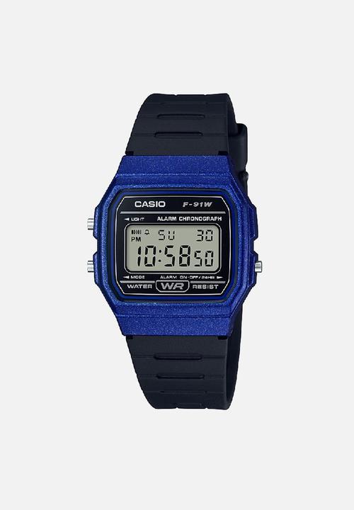 2ef8fd044ae9 Digital wrist watch F-91WM-2A - blue   black Casio Watches ...