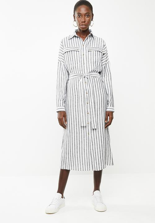 54a743541f34 Midi length shirt dress - blue and white stripe Superbalist Formal ...