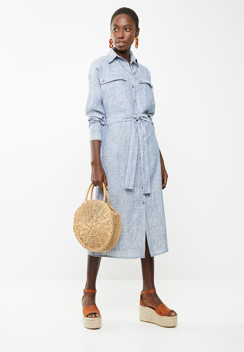 a35f728f1b3 Midi length shirt dress - blue Superbalist Formal