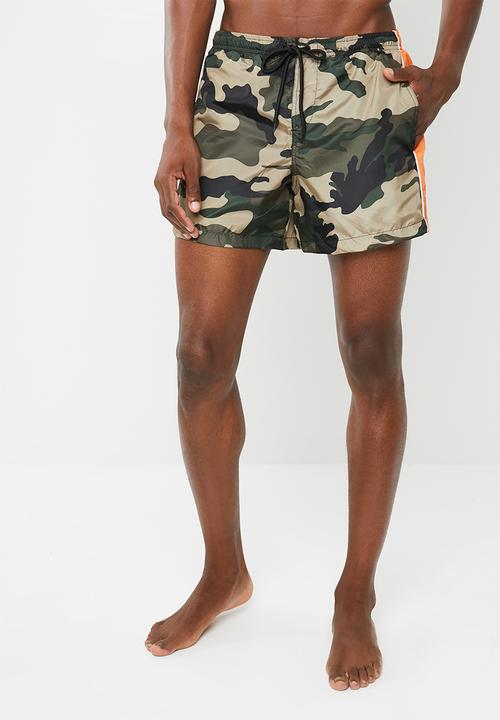 2556d02de8 Cuban swim shorts - camo khaki Brave Soul Swimwear   Superbalist.com