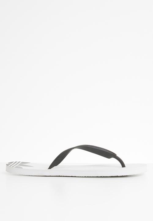 75cae3894 Originals Adi Sun Flip Flops - White  Black adidas Originals Sandals ...