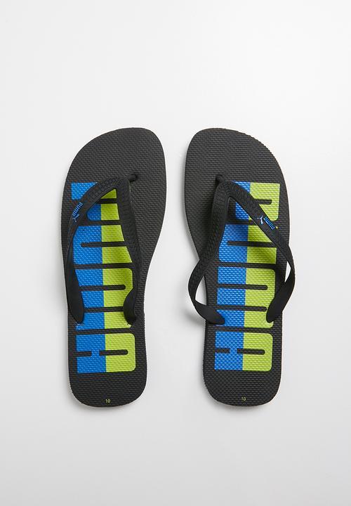 dff126604bff First flip word - black lime PUMA Sandals   Flip Flops