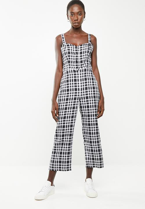 a030a52e5b Tie back jumpsuit - black and white check Superbalist Jumpsuits ...