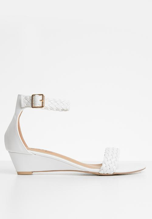 Jada - Ankle strap wedges - white. LOW STOCK fffb7049790f