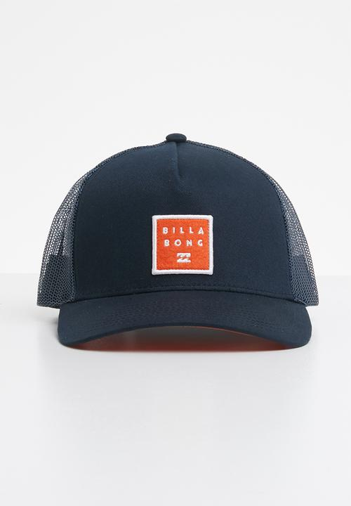 72dfc184494 Stacked trucker cap - navy Billabong Headwear