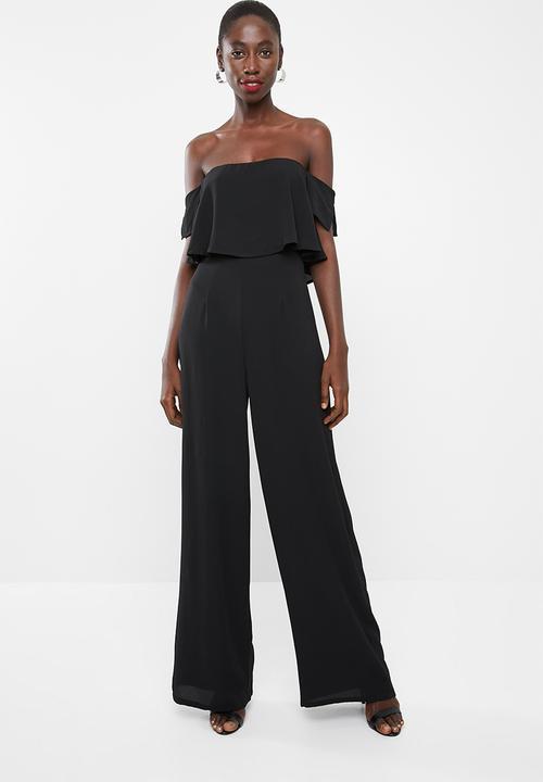00c604a789 Bardot wide leg jumpsuit - black Missguided Jumpsuits   Playsuits ...