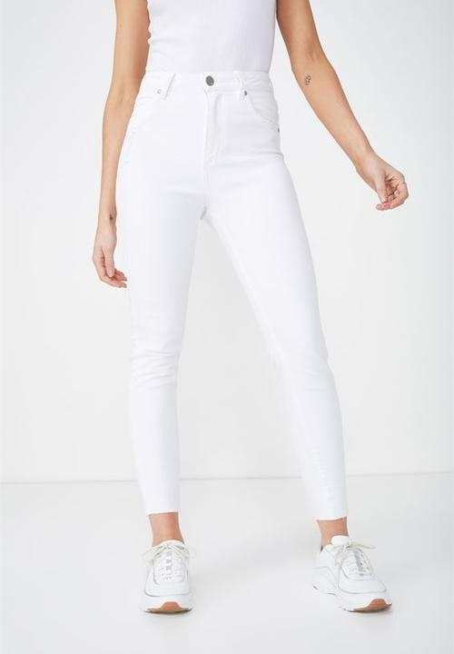 f243f8f62 High rise grazer skinny jeans - white Cotton On Jeans   Superbalist.com
